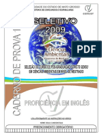 Ppgca 2009 Caderno Proficiencia Ingles