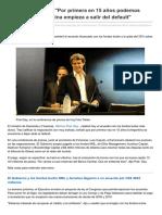 Lanacion.com.Ar-Alfonso Prat- Gay Por Primera en 15 Años Podemos Decir Que La Argentina Empieza a Salir Del Default