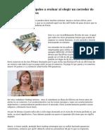 Cinco áreas principales a evaluar al elegir un corredor de operaciones de Forex