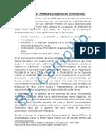 La Salud en Las Americas y Cooperación Internacional (2)