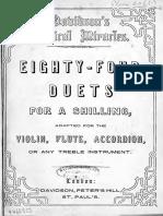 Davidsons 84 Duets for treble instruments