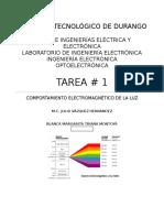 Comportamiento electromagnético de la luz.