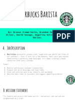 Starbucks Job Analysis