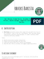 Starbucks Job Analysis