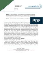 Skvoretz & Fararo (2011) - Mathematical sociology