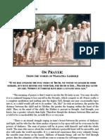 Gandhiji on Prayer