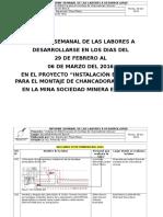 Informe Semana de Las Labores a Desarrollarse Del 29.02.16 Al 06.03.16