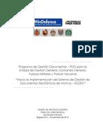 Programa de Gestión Documental - MDN