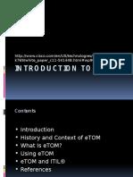 Week 11 Introduction to Etom