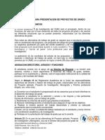 Protocolo Para Presentacion de Proyectos de Grado