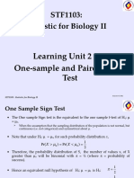 LU2 -A - One-sample and Paired Sign Test