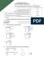 4th Periodical Test Mathematics 6