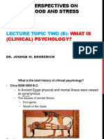 2-B-what is (Clinical) Psychology