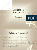 Algebra 12 Lessons 78 Through 80