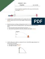 10  worksheet - projectile