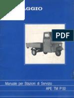 Manuale Per Stazioni Di Servizio - Piaggio Ape TM 50
