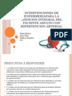 Intervenciones de Enfermeriapara en La Hipertencion Arterial