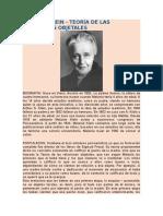 Melanie Klein -Teoria de Las Relaciones