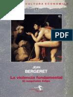 La Violencia Fundamental de Jean Bergeret