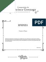 Cifra de Simpatia Canto e Piano - Chiquinha Gonzaga