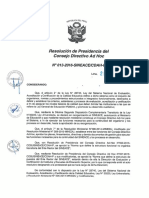 Resolución N°013-2016-SINEACE-CDAH-P