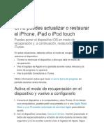 Restaurar iPad