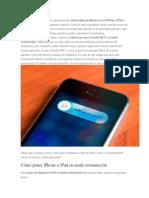 Poner iPad en DFU