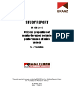 SR258 - Critical Properties of Mortar