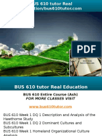 BUS 610 Tutor Real Education-bus610tutor.com