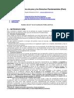 Constitucion Politica Del Peru y Derechos Fundamentales