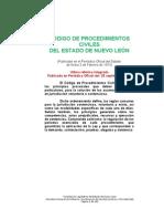 Código de Procedimientos Civiles Para el Estado de Nuevo León, México