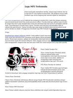 Aplikasi Download Lagu MP3 Terkemuka