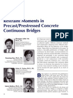 JL-98-November-December Restraint Moments in Precast Prestressed Concrete Continuous Bridges
