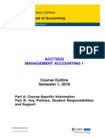 ACCT2522 Management Accounting 1 Course Outline S1 2016