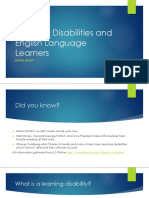 week 10 assignment on learning disabilities and english language learners