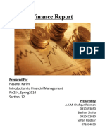 Finance Report on EPS analysis