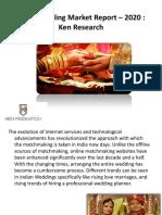 India Wedding Market Report |India Online Matchmaking Market