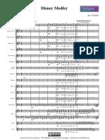 Disney Medley Cianci Orchestra. Parituras, Orquesta Escolar.