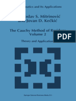 The Cauchy Method of Residues (Vol. 2)