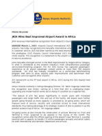 JKIA Wins Best Improved Airport Award in Africa