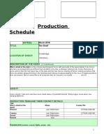 stop motion production schedule
