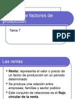 O mercado dos factores de produción