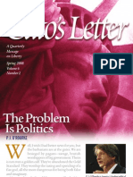 11 CATO Article the Problem is Politics by PJ O'Rourke