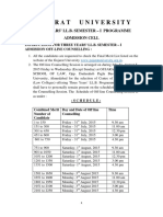 3 Yrs LL.B. . Off Line Counselling Notice