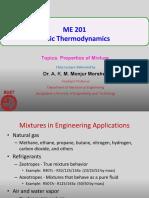 ME201 Properties of Mixture