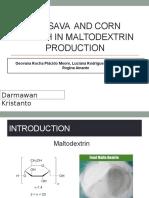 Cassava and Corn Starch in Maltodextrin Production