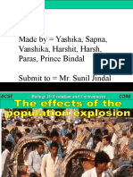 8.1 Effects of Population Explosion
