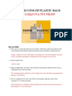 Extra Document_22.2_pros and Cons of Plastic Bags
