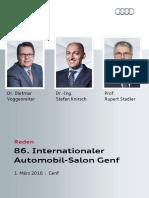 Reden Audi Pressekonferenz | Autosalon Genf 2016