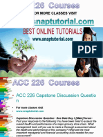 ACC 226 Academic Success/snaptutorial